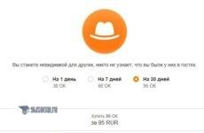 Как пользоваться услугой «Невидимка» в Одноклассниках